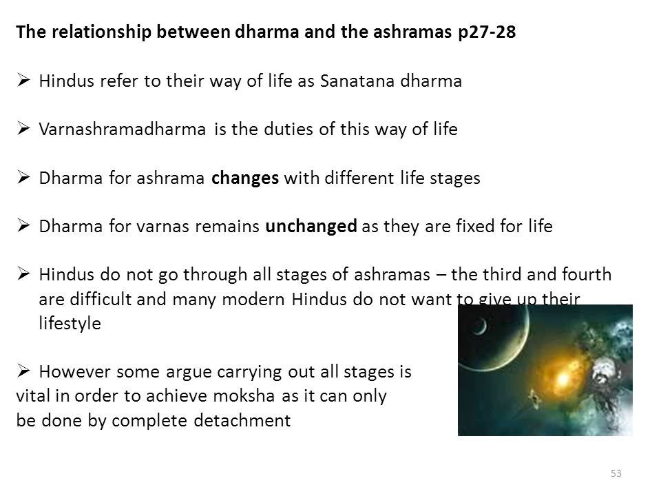 relationship between dharma karma samsara and moksha chicago