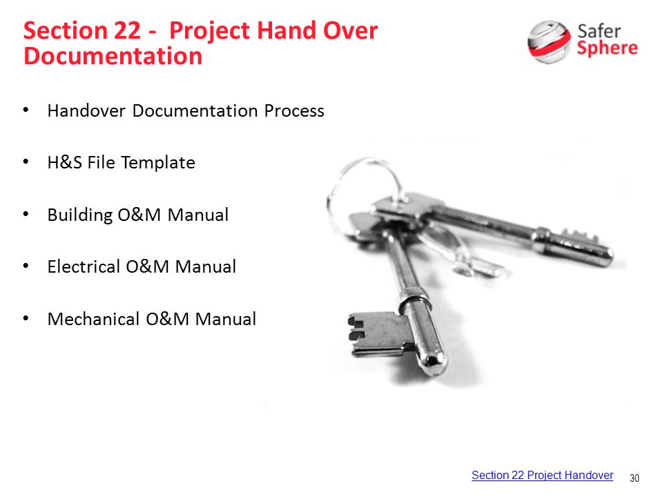 Safety management system ppt video online download for O and m manual template