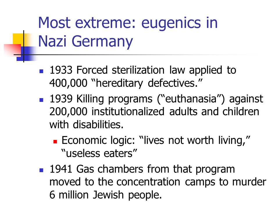 Image result for nazi germany eugenics practices