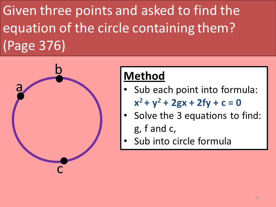 how to solve circle equation