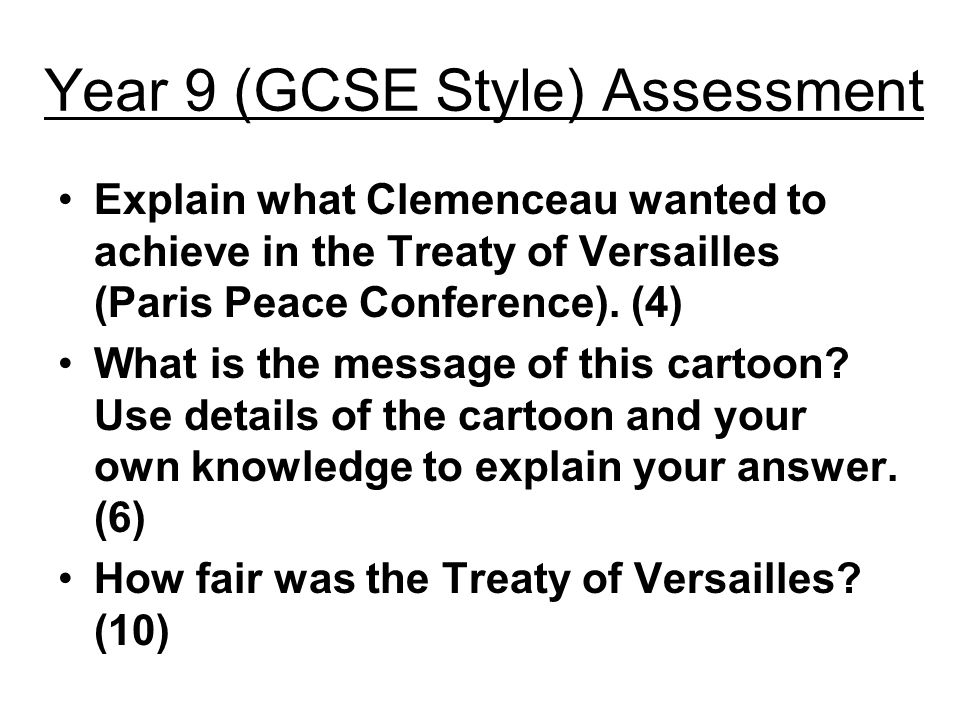 was the treaty of versailles fair ppt video online  8 year