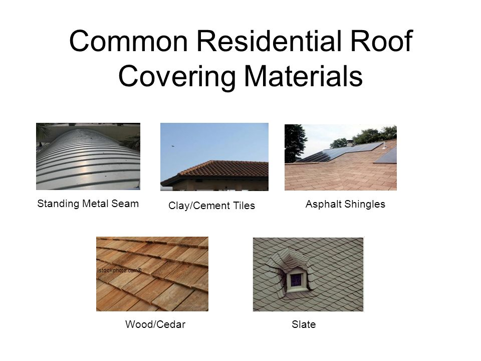 Residential roof types ppt download for Types of roof covering materials