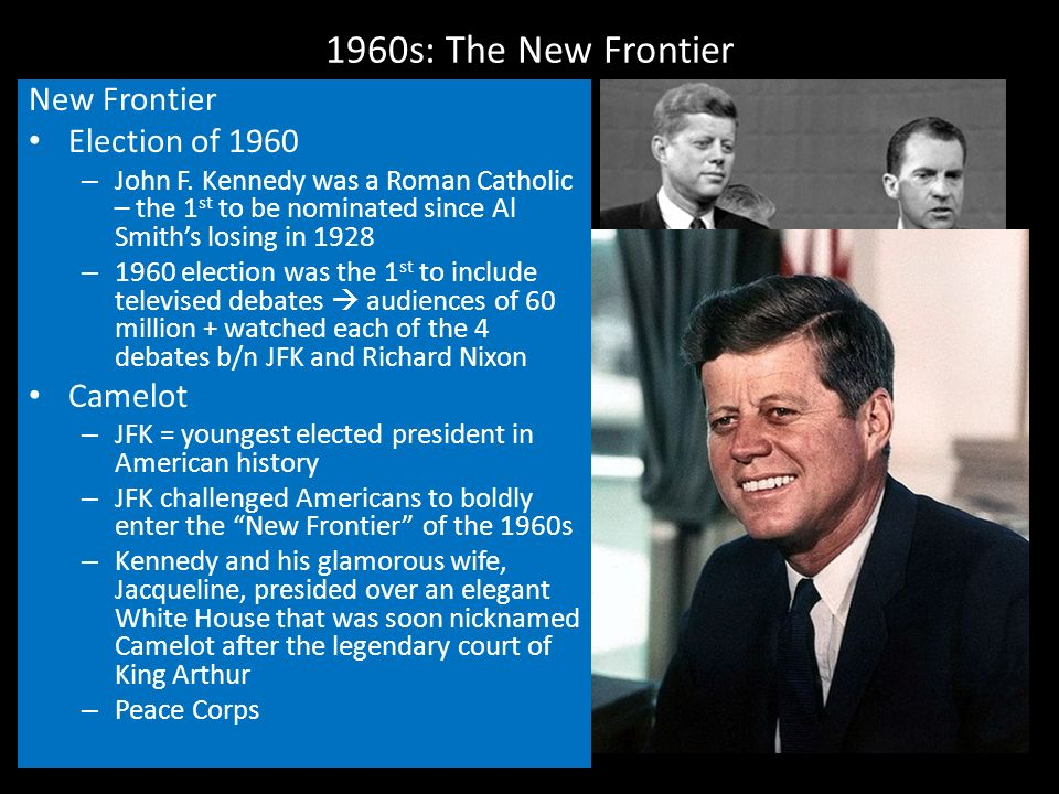 kennedy and a new frontier 3 essay Altogether, the new frontier witnessed the passage of a broad range of important social and economic reforms [9] according to theodore white , under john f kennedy, more new legislation was actually approved and passed into law than at any other time since the thirties [10.