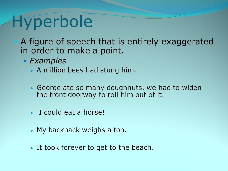 examples of figures of speech in Figures of speech (full list) techniques  use of language  figures of speech  full list  figures of speech (or 'rhetorical tropes') are ways of using words that may seem unusual but have a specific and desired effect.