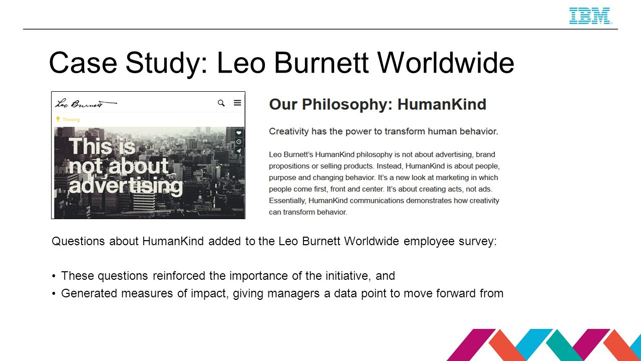 leo burnett case study summary Lorna burt / our stories / / lorna burt  project details company: leo burnett ngo: greenroot finance host comms  case study when applying to tie,.