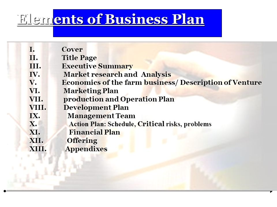 Elements Of Business Plan  Ppt Download