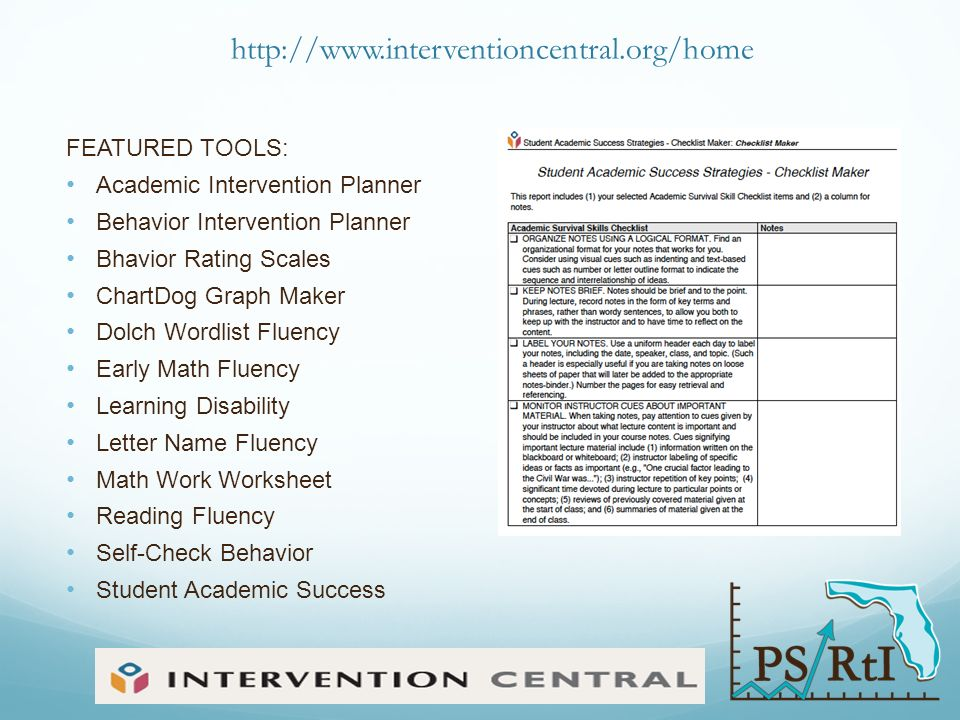Effective Literacy Instruction ppt download – Intervention Central Math Worksheet Generator