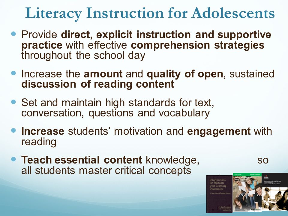 the effectiveness of content literacy instruction 3 research-based reading instruction research-based content area reading instruction as students move beyond the primary grades, the focus of their school lives.