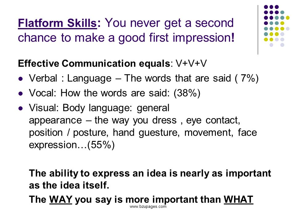 how to give a good first impression