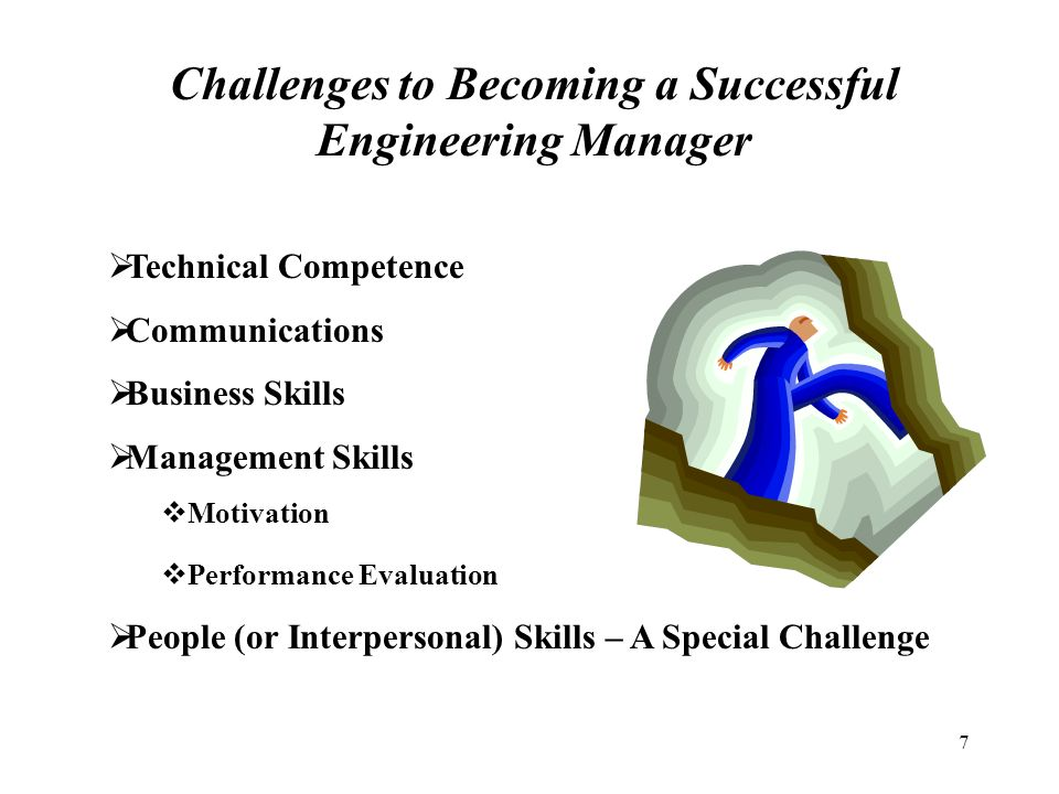 successfully transitioning from engineer to engineering manager management essay How about a professor of civil engineering a project engineer for a large  consulting firm or a senior project manager for a construction manage- ment  firm.