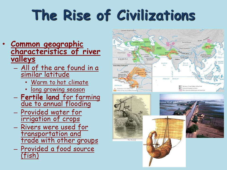 explain the rise of civilization Essay: explain the rise of civilization and include 3 basic features a civilization is the starting point of a society civilizations have existed for millions of years and are the basic unit of structure for a society civilizations were.