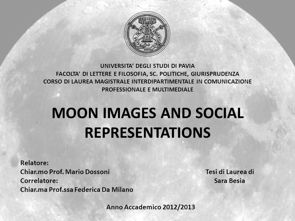 MOON IMAGES AND SOCIAL REPRESENTATIONS