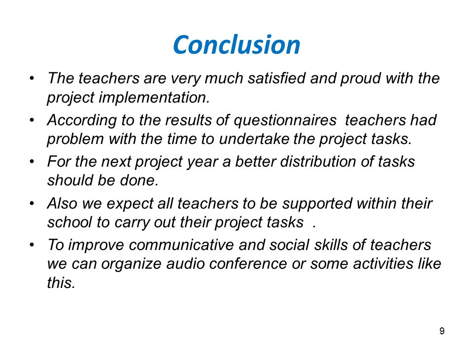 conclusions of the study of evaluation A quantitative study of teacher perceptions of professional learning communities' context, process, and content by dariiel r johnson dissertation committee.