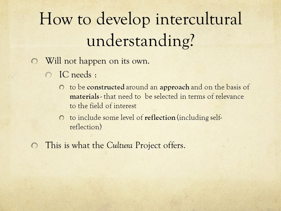 How to develop intercultural understanding