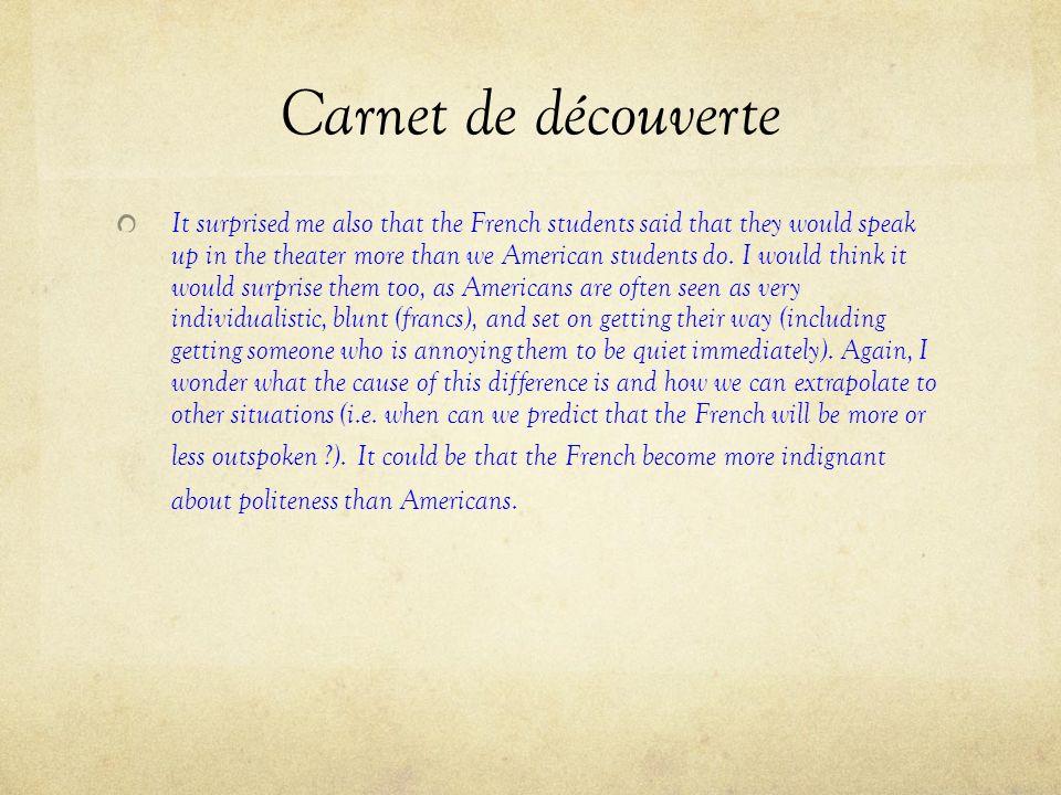 Carnet de découverte