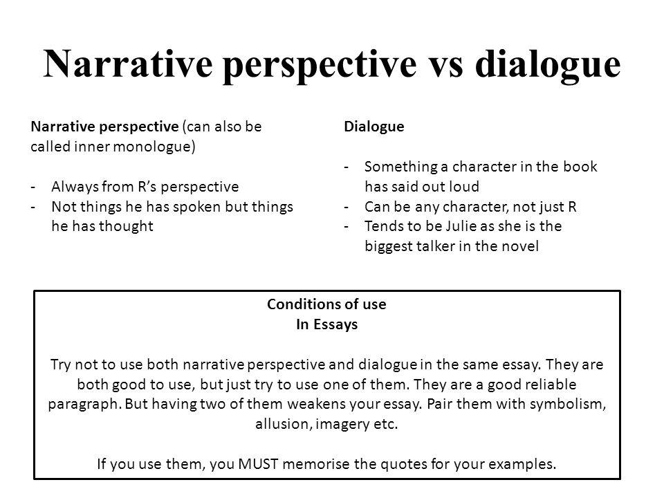 zombies apocolyse fiction ppt narrative perspective vs dialogue