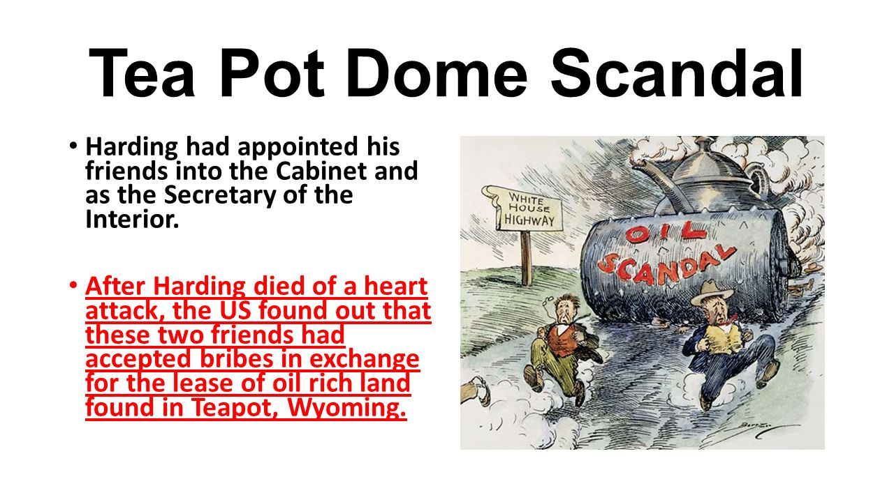 a history of the teapot dome scandal in the united states
