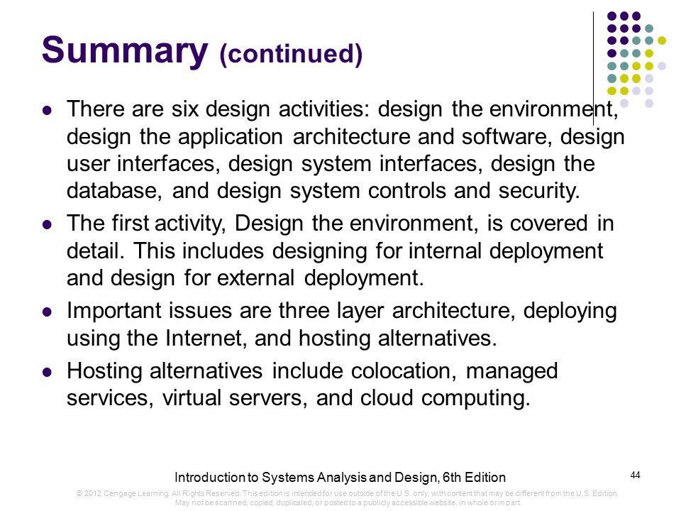 intro to system analysis and design Systems analysis and design is an active field in which analysts repetitively learn new approaches and different techniques for building the system more effectively and efficiently the primary objective of systems analysis and design is to improve organizational systems this tutorial provides a .