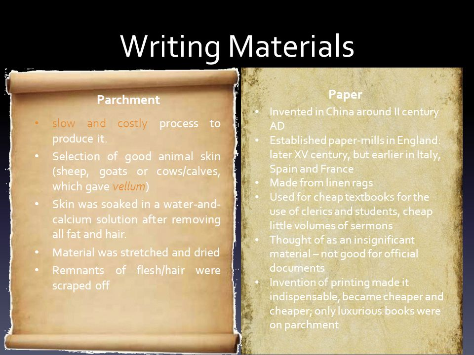 Writing Materials Paper Parchment