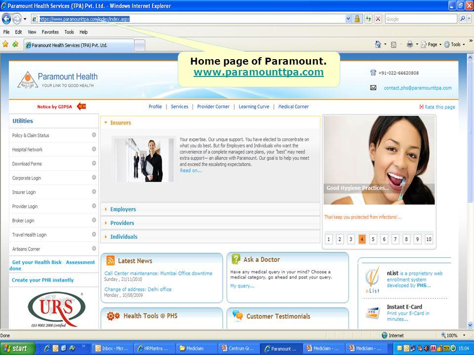 paramount health services tpa pvt ltd ppt video online download. Black Bedroom Furniture Sets. Home Design Ideas