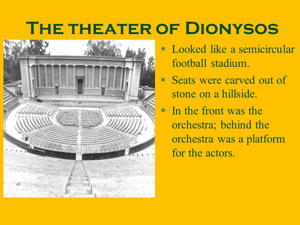 The theater of Dionysos