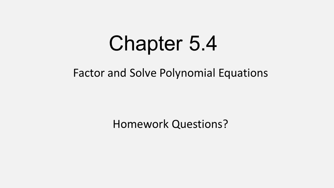 how to solve quartic polynomial