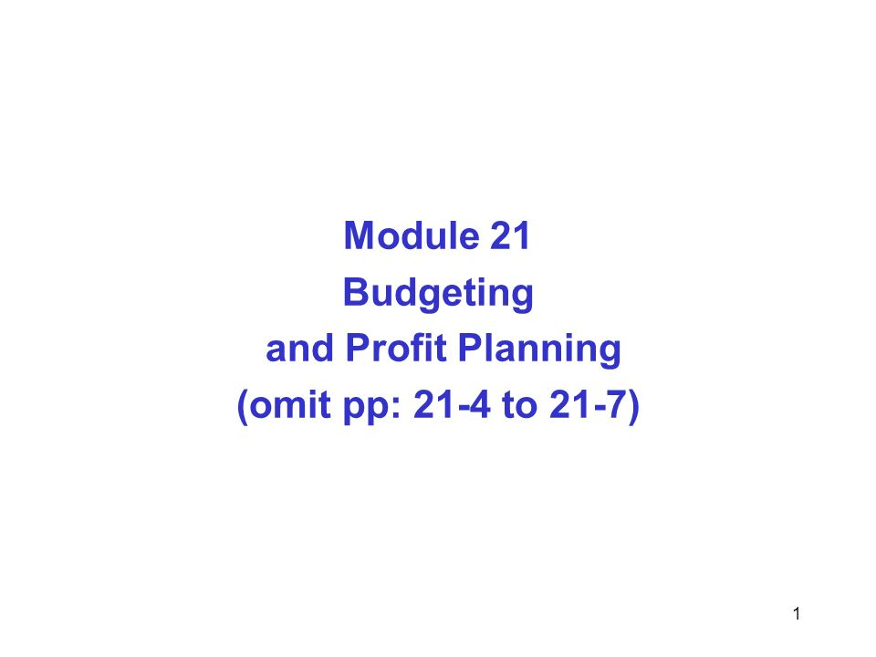 operational budgeting and profit planning A planning tool without a budget, an organization may not be able to make the best decisions example: a nonprofit makes up its initial budget everything balances on paper it looks good there may create a budget that works for you.