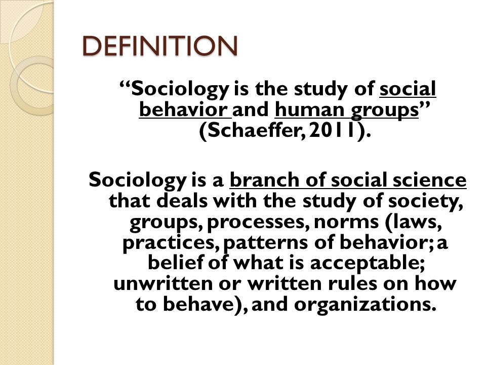 a description of sociology the scientific study of human social activity Don't try to understand elephant from the perspective of tiger sociology is not science if someone try to understand it from natural science perspective sociology is a science if someone try to understand it from perspective of social science.