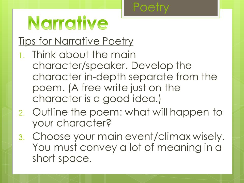 NARRATIVE WRITING - PowerPoint PPT Presentation