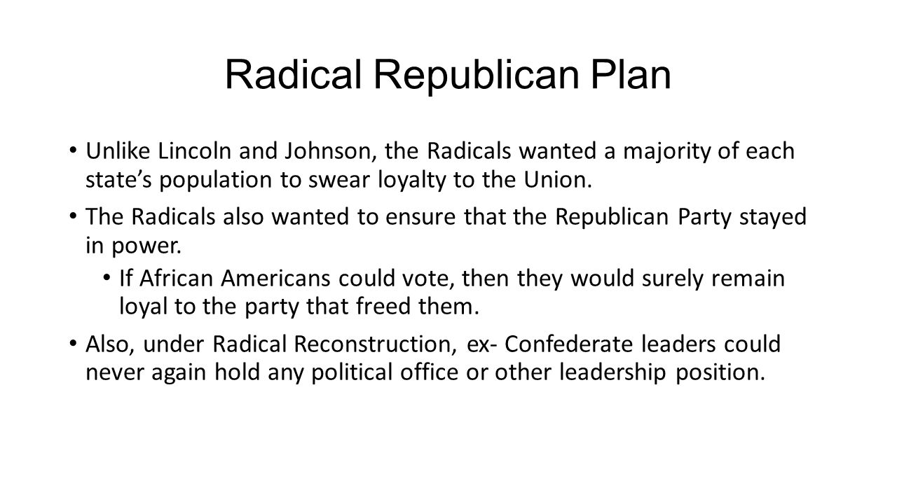 Notes 9 Johnson And The Radical Republicans Ppt Download