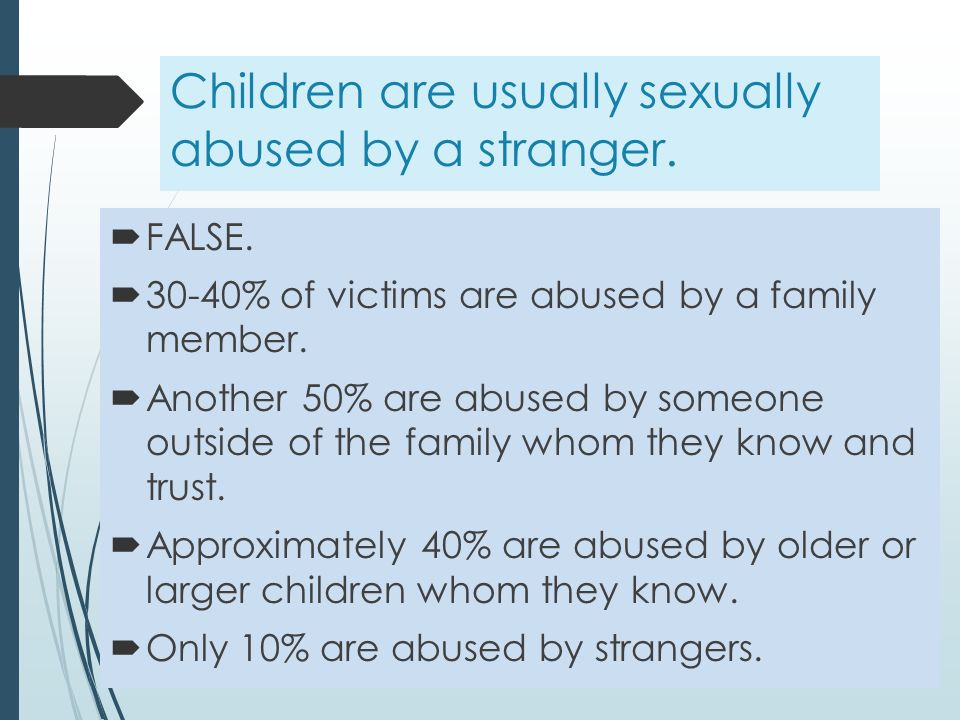 sexual abuse by a family member