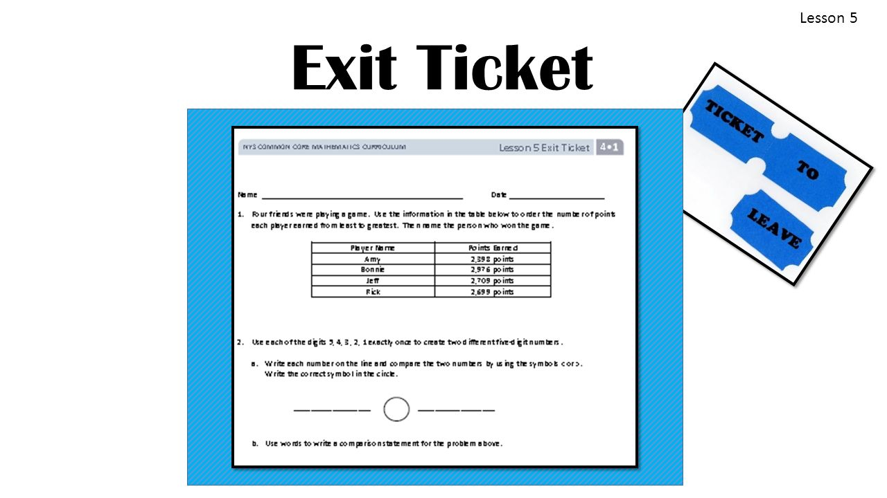 Topic b comparing multi digit whole numbers 4nbt2 ppt video 30 lesson 5 exit ticket biocorpaavc Image collections