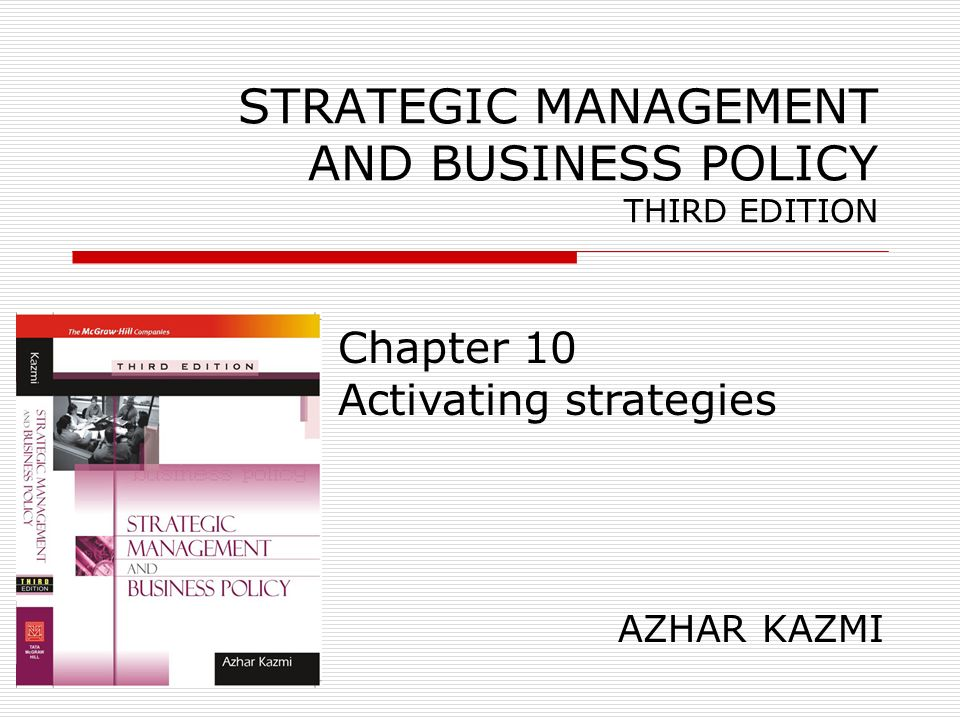 Strategic Management And Business Policy Third Edition Ppt Video