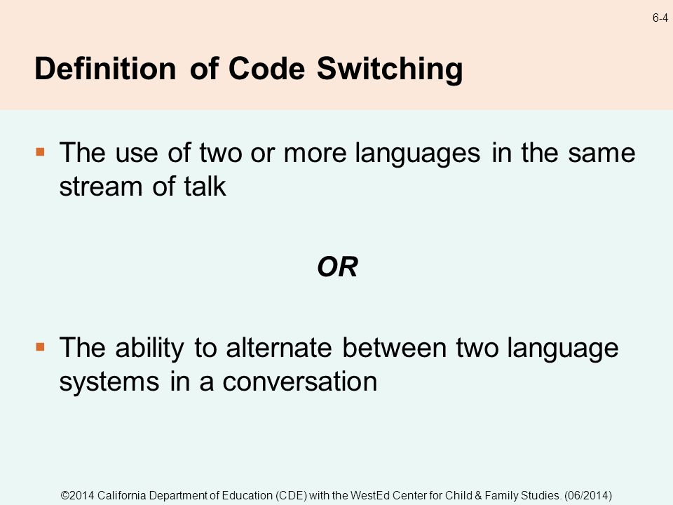 a perspective on code switching and the reasons why people code switch Code switch that's our name, and please wear it out we're a new team of journalists who cover race, ethnicity and culture for npr, and we want to know about your funniest, most awkward or memorable instances of code-switching that's the action of slipping between languages (and, as we'll be using.