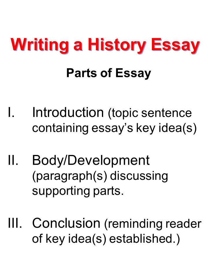 What is needed in a history essay introduction
