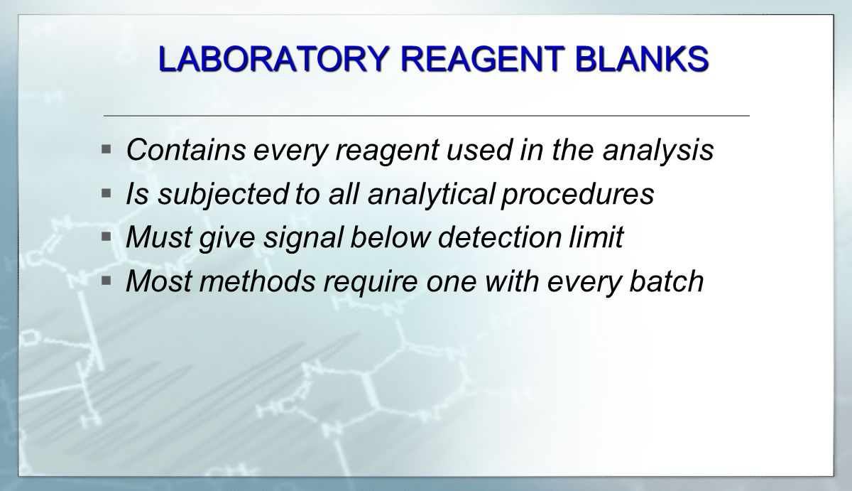 LABORATORY REAGENT BLANKS