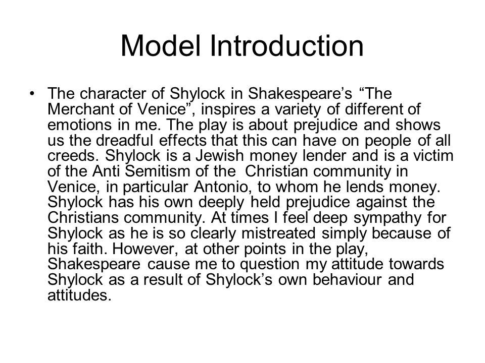 "merchant of venice"" essay plan character ppt video online  6 model introduction the character of shylock in shakespeare s ""the merchant of venice"""