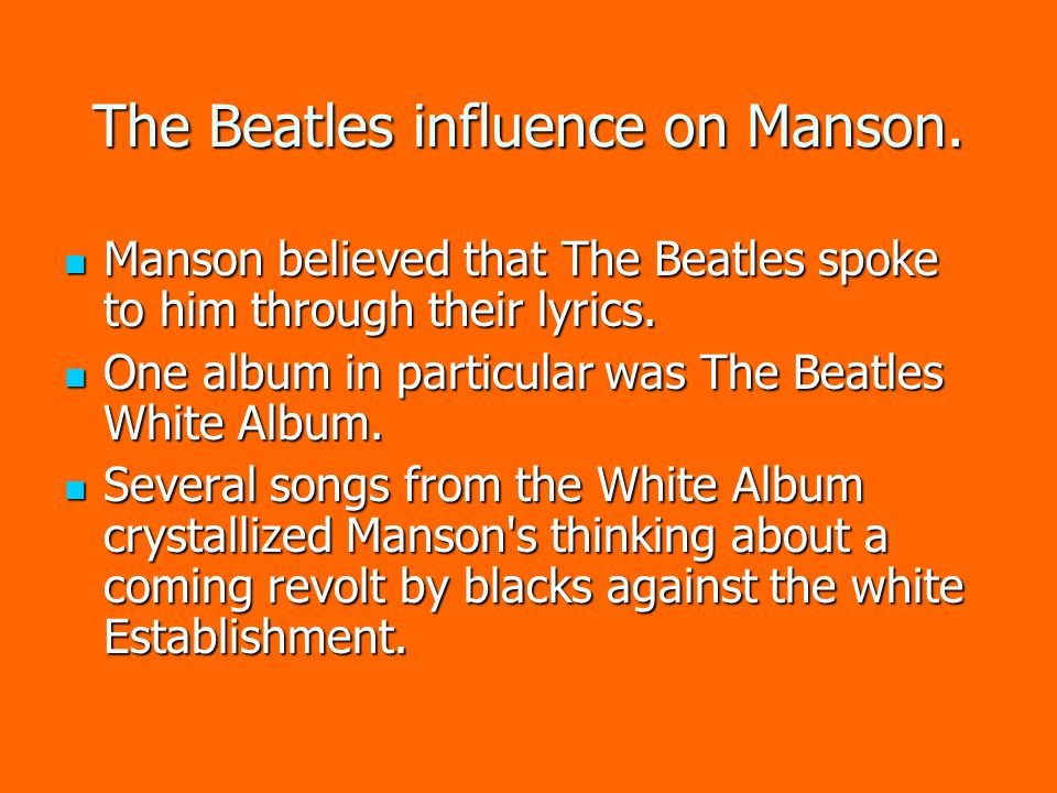 the beatles and their influence Read news updates about the beatles discover video clips of recent music performances and more on mtv.
