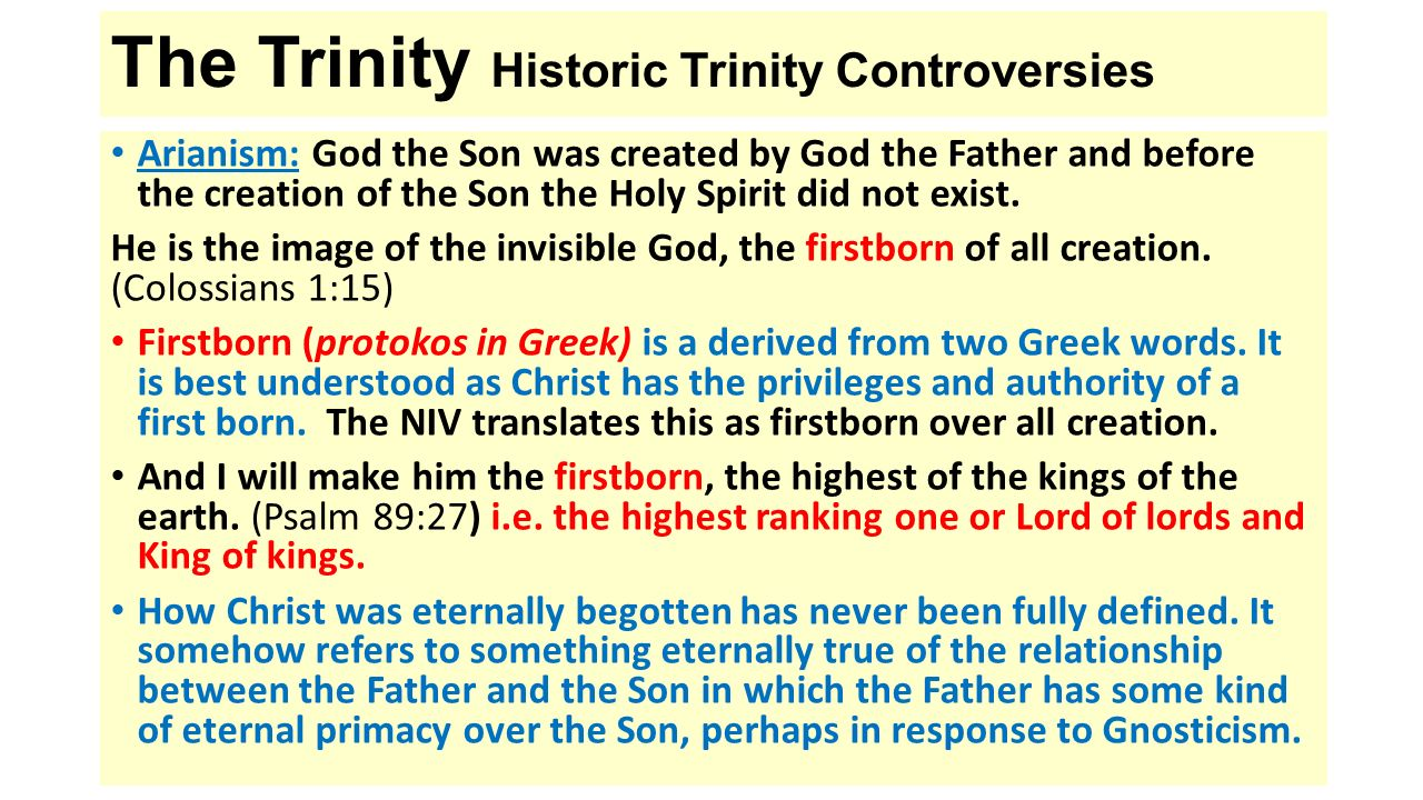 what is the relationship between creation and trinity