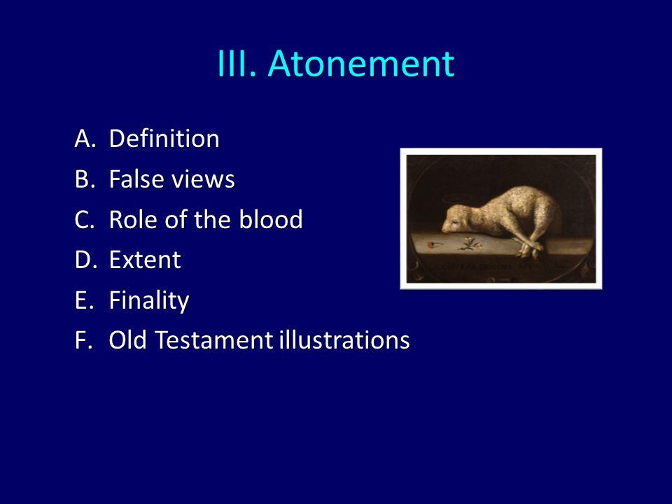 Captivating Atonement Definition False Views Role Of The Blood Extent