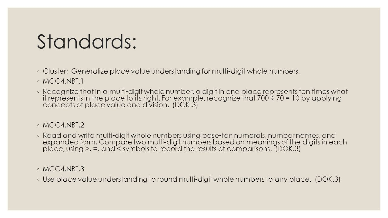 Place value rounding comparing numbers ppt video online download 2 standards biocorpaavc Gallery