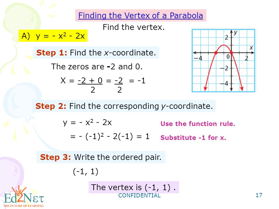 How To Find The Vertex Of A Parabola In Standard Form Patrofi
