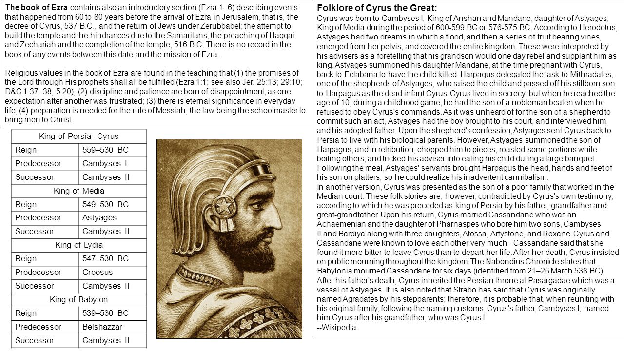 the life and reign of cyrus the great Under babylonian and persian rule after a reign of 45 years darius' successor is known in world history as cyrus the great, and jewish history likewise considers him to be an extraordinary person, albeit for different reasons.