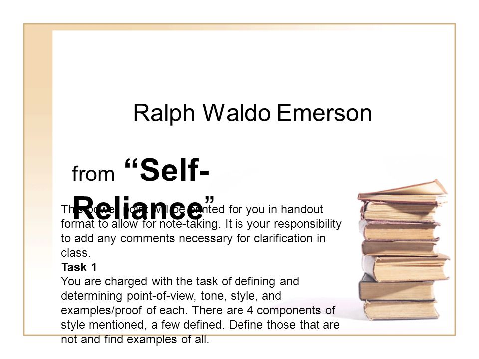 response to emersons essay self-reliance Pdf reliance emerson essay self