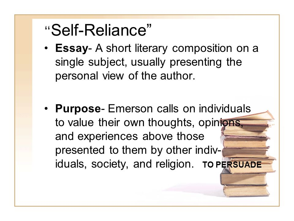 "ralph waldo emerson from ""self reliance"" ppt video online  2 ""self reliance"" essay"