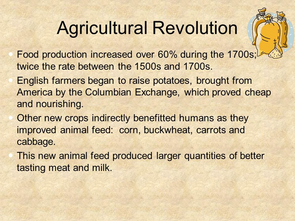 an agricultural revolution in america Historical timeline — farm machinery & technology 17th-18th centuries 18th century oxen and horses for power, crude wooden plows, all sowing by hand, cultivating by hoe, hay and grain cutting with sickle, and threshing with flail  change from hand power to horses characterizes the first american agricultural revolution 1865-75 gang plows.