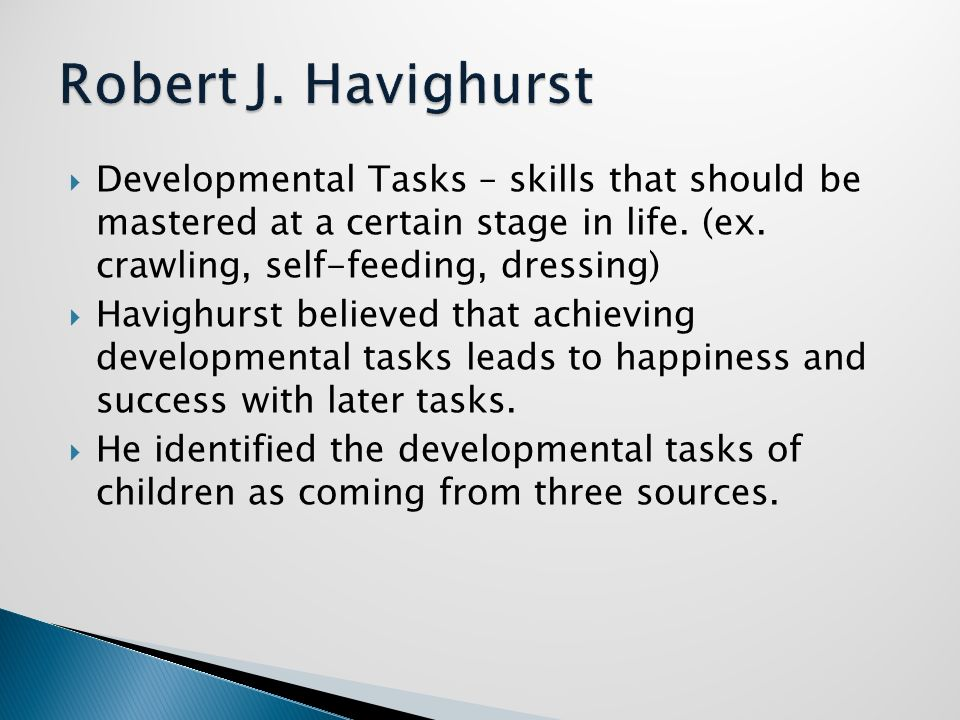 developmental task Developmental task, role confusion occurs from erikson's perspective, identity refers to a sense of who one is as a person and as a contributor to society (hoare, 2002).