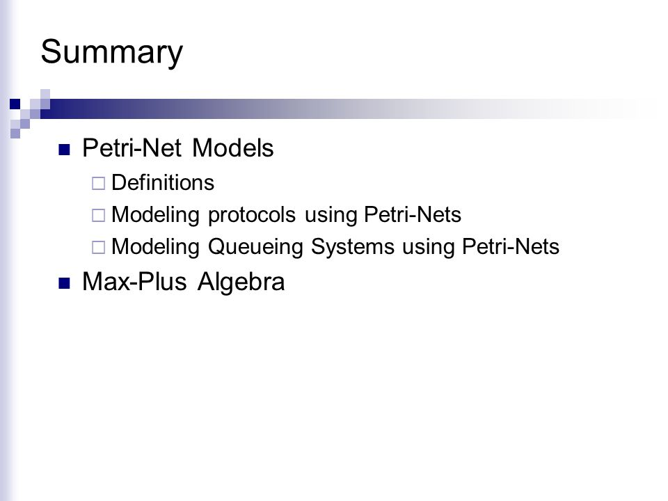 Petri-Nets and Other Models - ppt download