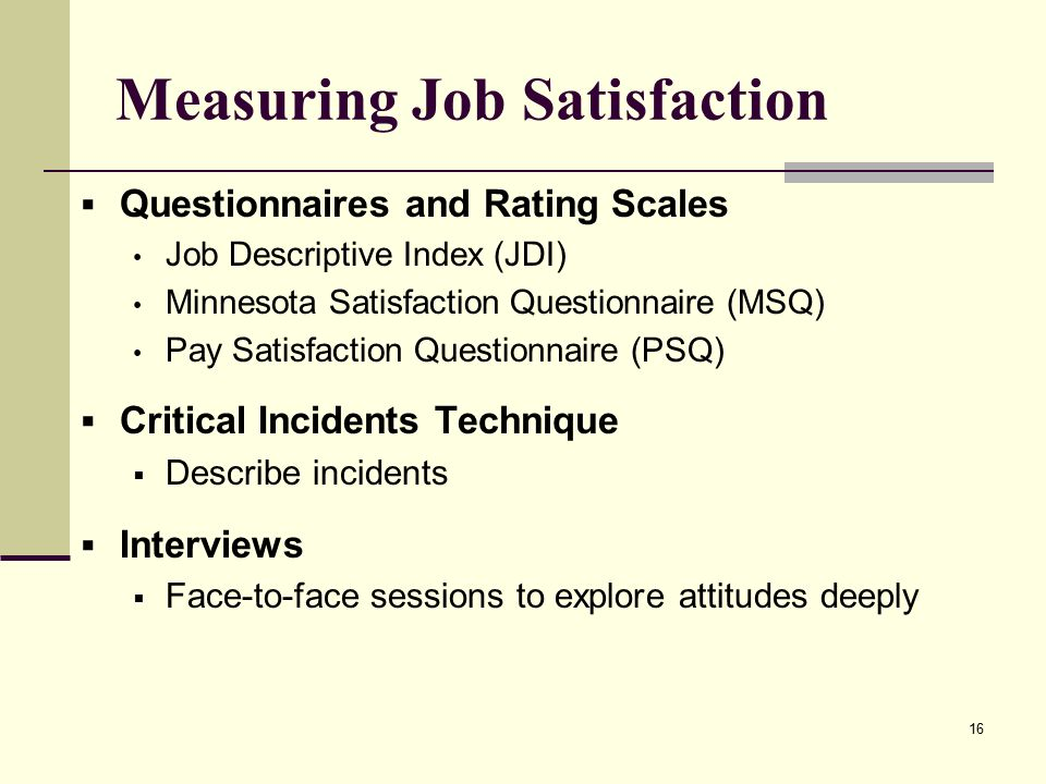 measuring job satisfaction in surveys Archive for category: staff employee satisfaction  together some of our most  popular insights into measuring, discussing and achieving true employee  satisfaction  short customer satisfaction surveys are popping up all over the  place.