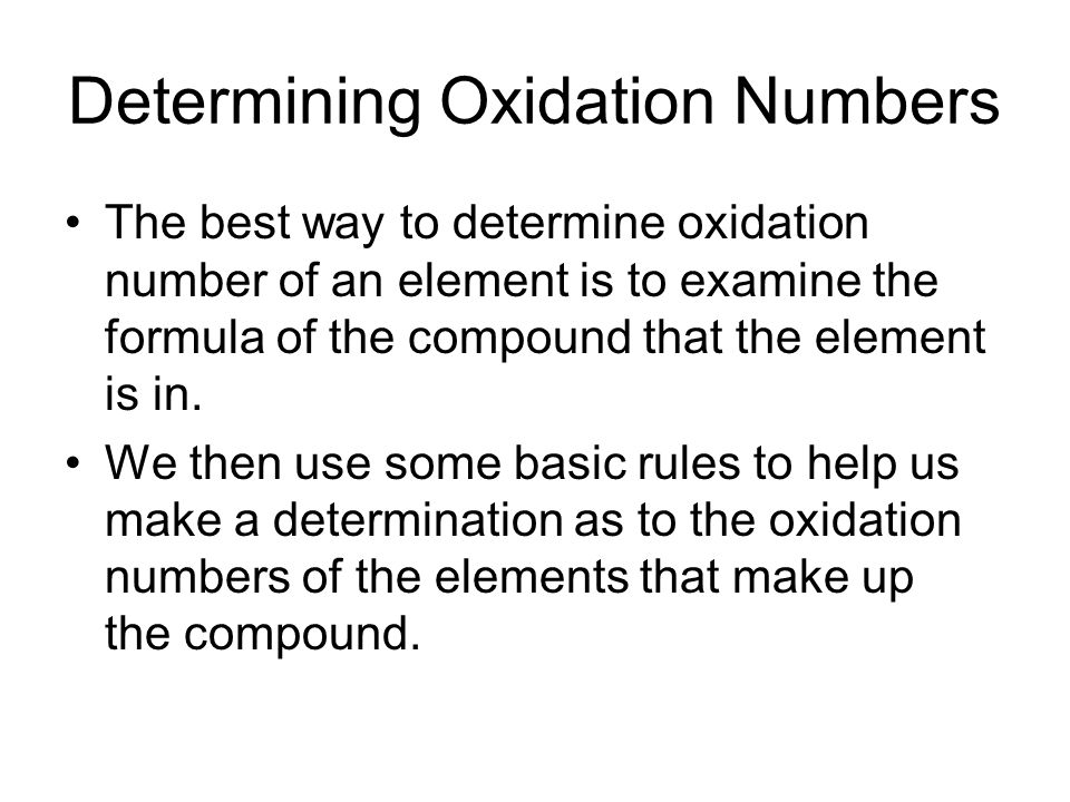 how to find the oxidation number of an element
